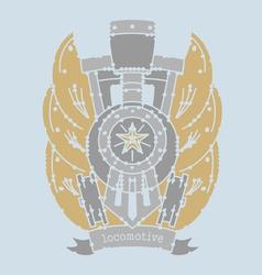 locomotive emblemVS vector image
