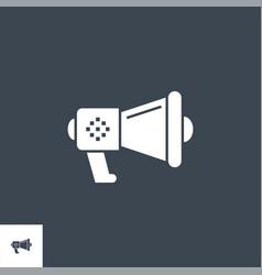 Loud speaker related glyph icon vector