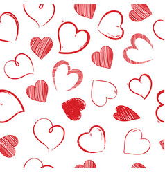 love hearts sealess pattern decorative valentines vector image