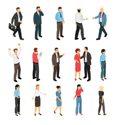 man and woman creation set vector image