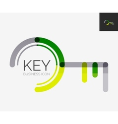 Minimal line design logo key icon vector image