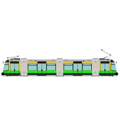 modern tram vector image