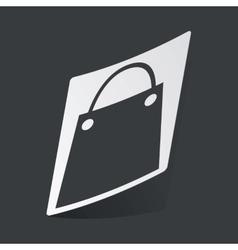 Monochrome shopping bag sticker vector image
