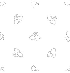 moon and cloud pattern seamless vector image