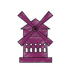 Moulin rouge france vector