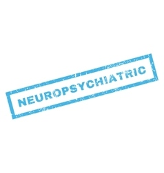 Neuropsychiatric rubber stamp vector
