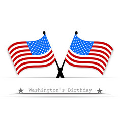 on the day of president a white background vector image