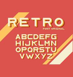 Original vintage retro font vector