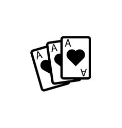 playing cards aces icon element of casino icon vector image
