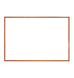 Rectangle rusty frame realistic old metal vector