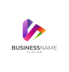 S media play logo vector