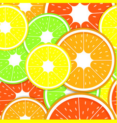 Seamless lemon fruits pattern vector