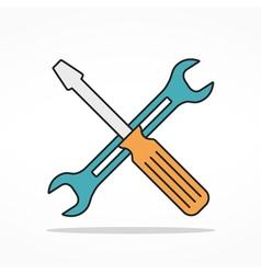 Service Flat Line Icon vector