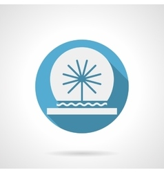 Spherical fountain round flat icon vector image