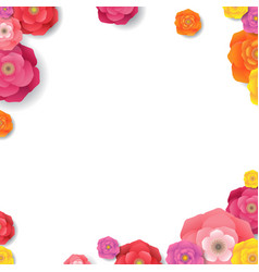 spring border isolated vector image