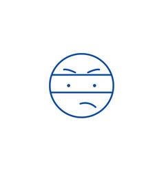 spy emoji line icon concept spy emoji flat vector image