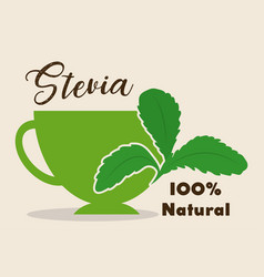 stevia concept design vector image