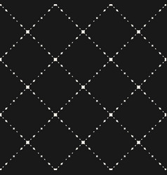 subtle dark geometric seamless pattern vector image