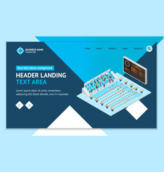 swimming competition concept landing web page vector image