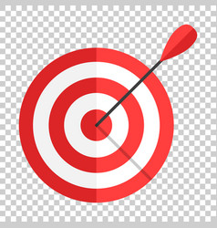 Target aim icon in flat style darts game on vector