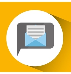 Technology monitor icon email message isolated vector