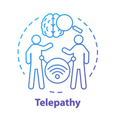 telepathy concept icon mind reading thought vector image
