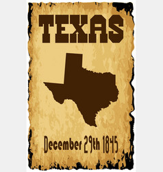 Texas admission to the union date vector
