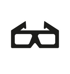 The 3d movie icon 3D Glasses symbol Flat vector