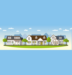Three classical country houses in the suburbs vector