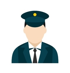 Train conductor icon vector