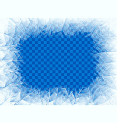 transparent blue frost window vector image