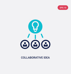 two color collaborative idea icon from general-1 vector image
