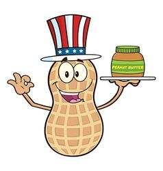 Uncle sam peanut cartoon vector