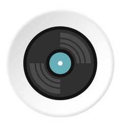 vinyl record icon circle vector image