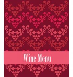 Wine menu vector