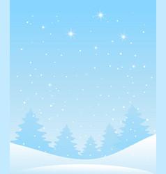 winter forest landscape christmas background vector image