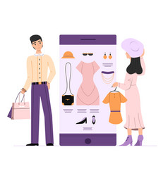 woman online shipping vector image
