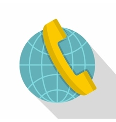 Global communication icon flat style vector image vector image