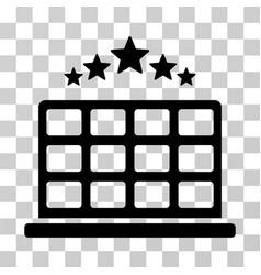 Hotel stars icon vector