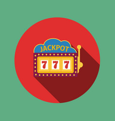 jackpot on a slot machine flat icon vector image