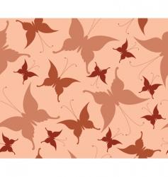 seamless background with retro butterflies vector image vector image