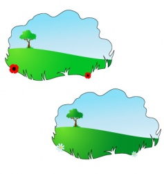 season summer and spring vector image vector image