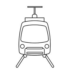 tram travel public transport urban outline vector image