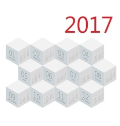 Calendar 2017 design stationery template vector image vector image