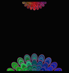 colorful abstract floral mandala background - vector image