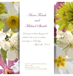 Floral invitation card with beautiful spring vector image vector image