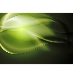 Green waves background vector image vector image