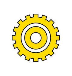 industry gear to process engineering vector image vector image