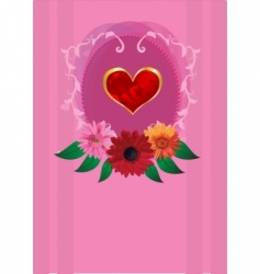 invitation romantic card vector image vector image