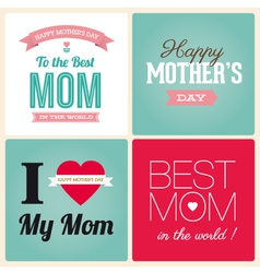 Mothers day cards vector